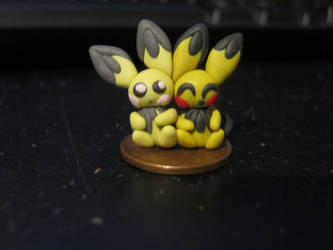 Clay Pichu and Shiny pichu by leafstep