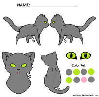 Cat ref lineart by leafstep