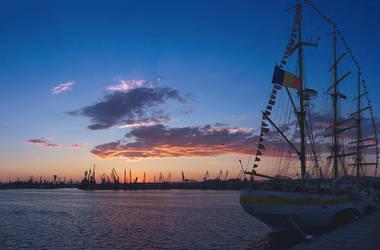 Varna harbour sunset by BlackSeaBulgaria