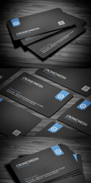 Stylish Corporate Business Card by FlowPixel