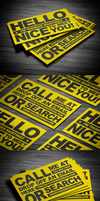 Typography Business Card by FlowPixel