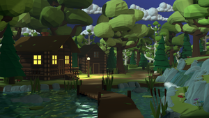 House In The Woods by Obsidianmoon13
