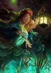 Green Moon by Nastya-Lehn