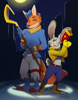 FanArt: Nick and Judy by INKTigerArt