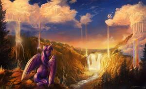 Twilight Visits the Sky. by viwrastupr