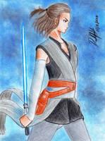 Rey (Star Wars: The Last Jedi) by danielcamilo