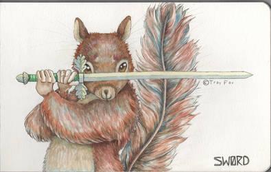 Squirrel Squire by mercurialfox