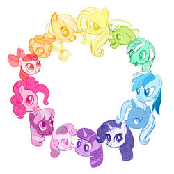 Pony Color Wheel by MissSmish