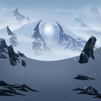 Ice Landscape by TomMartinArt