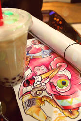 Boba Tea And Print by dumboxxx