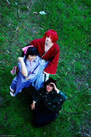 Kenshin, Kaoru, Yahiko IV by Gakosplay