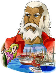 The grandpa - The Wind Waker AU, Miyazaki style by Skull-the-Kid