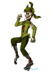 The Rotten Bastard with the Perpetual Smile (FNAF) by SnarkyTeaSipper