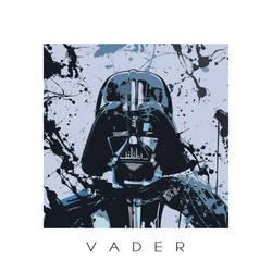Star Wars splash portrait I - Darth Vader by ArtClem