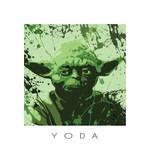 Star Wars splash portrait II - Yoda by ArtClem