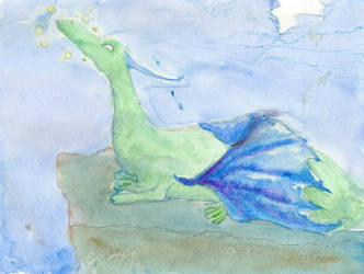 Dragon and Spirits by Panda-Boi