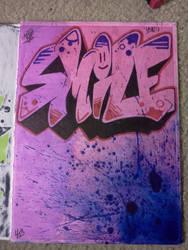 Smile Graffiti drawing by Juicebox617