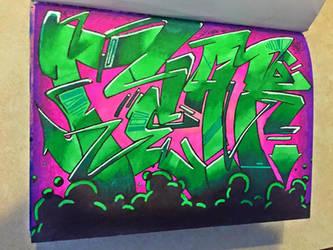 Fear Little Grafitti Sketch by Juicebox617