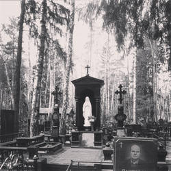 Forest cemetery by AlBrolz