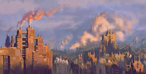 cityscape_sundown by NecRum-2111