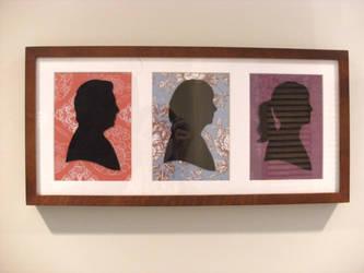 Family Silhouettes by thekitschsidekick