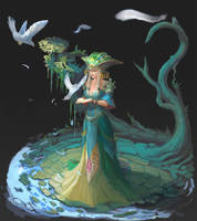 Priestess by Kwehrek