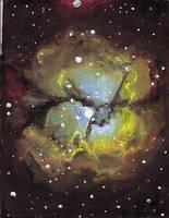 Trifid Nebula by DeCORinASON