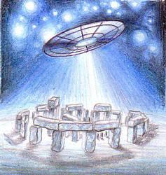Stonehenge UFO by DeCORinASON