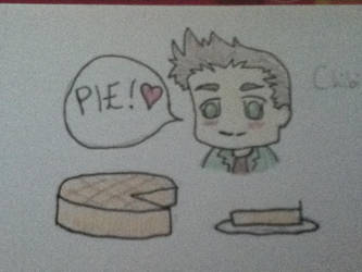 Dean Winchester and Pie by Wholocked394