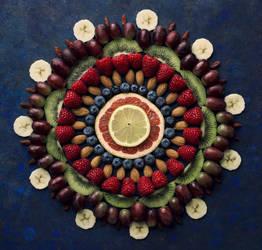 Fruit mandala by VinaApsara