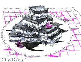 Inktober Day 1 - DESSERT: Chocolate Cookies by NikySHouse
