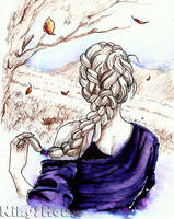 Inktober Day 3 - HAIRSTYLES: Autumnal Braid by NikySHouse