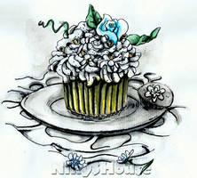 Inktober Day 22 - DESSERTS: Sugar Cake by NikySHouse