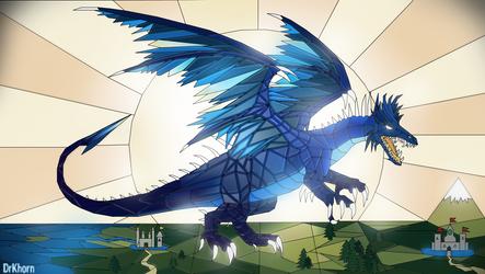 Azure dragon by DrKhorn