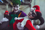 Joker and Harley Quinn Classic Costume Cosplay by LinebeckCosplayArt