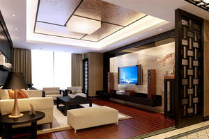 Chinese Style Living Room -4 by PhoenixBai
