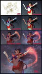 Sailor Mars steps by janaschi