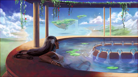 flowing paradise _ collab by janaschi