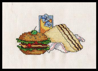 Cross Stitch Snacks by BrainLessGirl