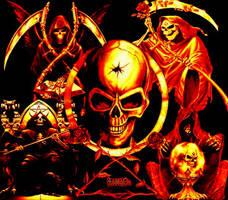 skulls by rogue-doll