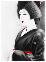 Geiko Kikutsuru by pigsarecute