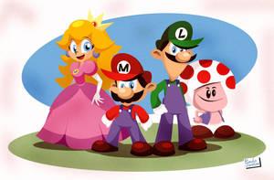 Super Mario and Company by Captain-Paulo