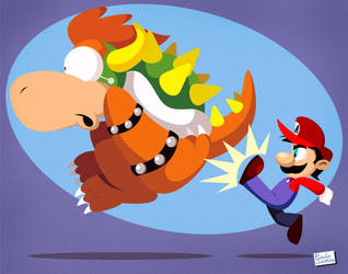 Mario Super Kick by Captain-Paulo