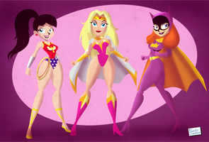 Action Gals by Captain-Paulo