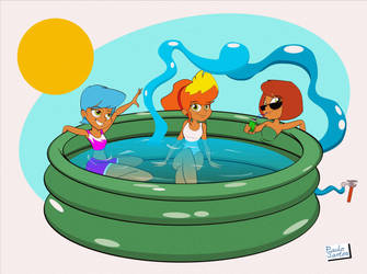 Pool Party by Captain-Paulo
