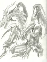 dragon magico de la muerte by charrytaker