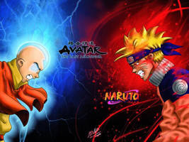 Avatar vs naruto by charrytaker