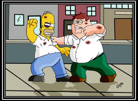 homero vs peter by charrytaker