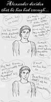 Alexander has had enough... by Akril15