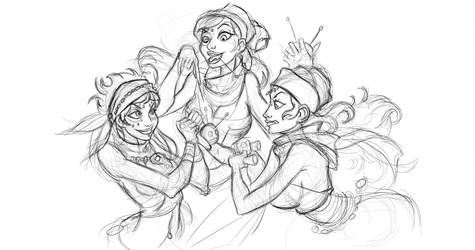 the three witches by partical0